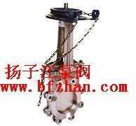 鏈輪單夾式刀型閘閥(梅花型)